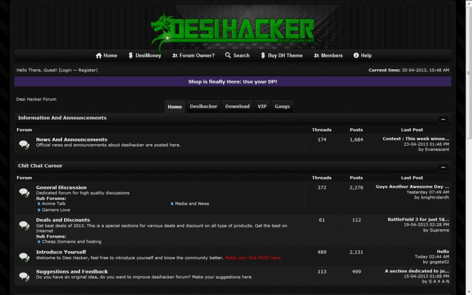 Desihacker Premium Mybb Theme