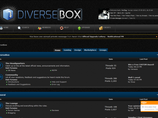 Diversebox Premium Mybb Theme