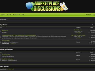 Marketplace – Dark Mybb Themes