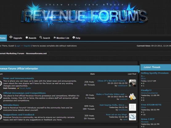 Revenue Theme – Premium MyBB Theme