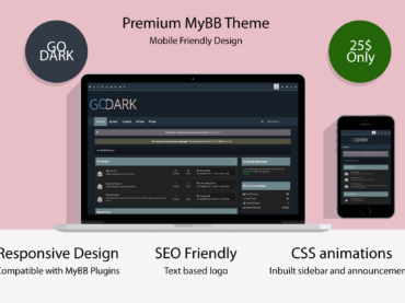 Go Dark MyBB Theme – Mobile Friendly