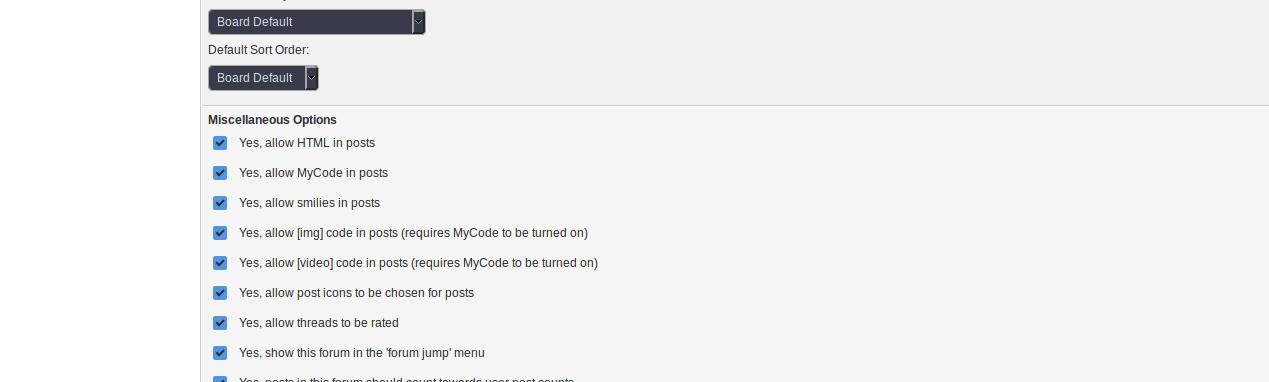 HTML in posts in mybb